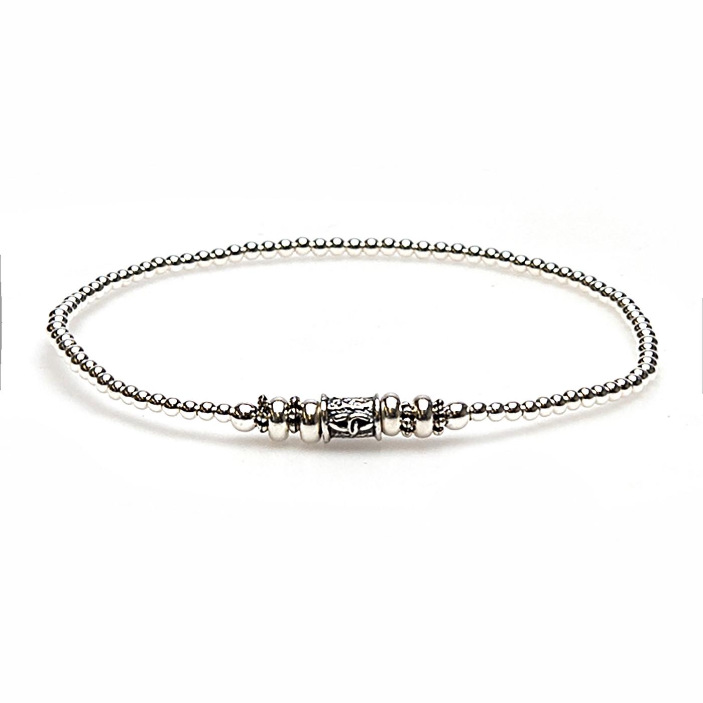 Karma Jewelry - 925 STERLING ZILVEREN BALISTYLE ARMBAND 92362